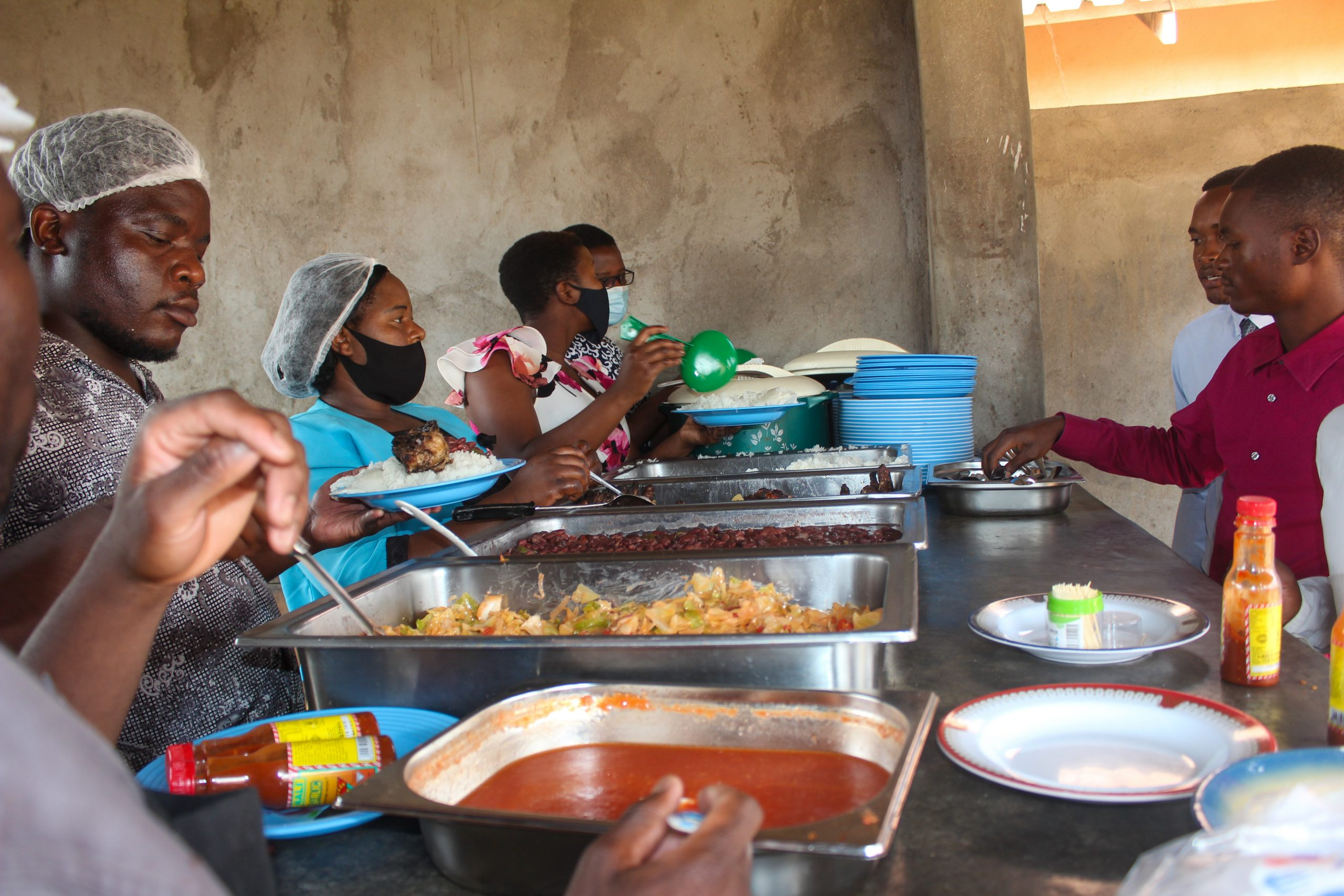 Some of the women serving food to Festival attendees